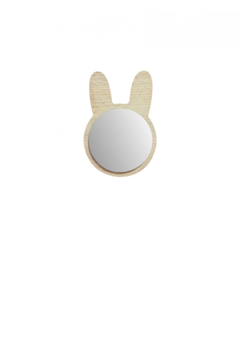 Miroir lapin en bois