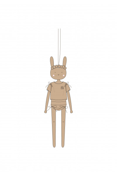 Rabbit Wooden Pantin