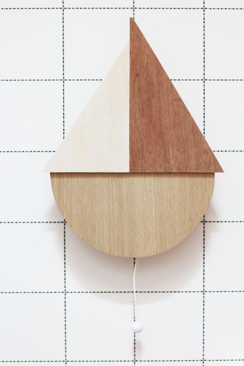 Boite à musique bateau en bois
