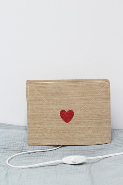 Letter of love wooden light