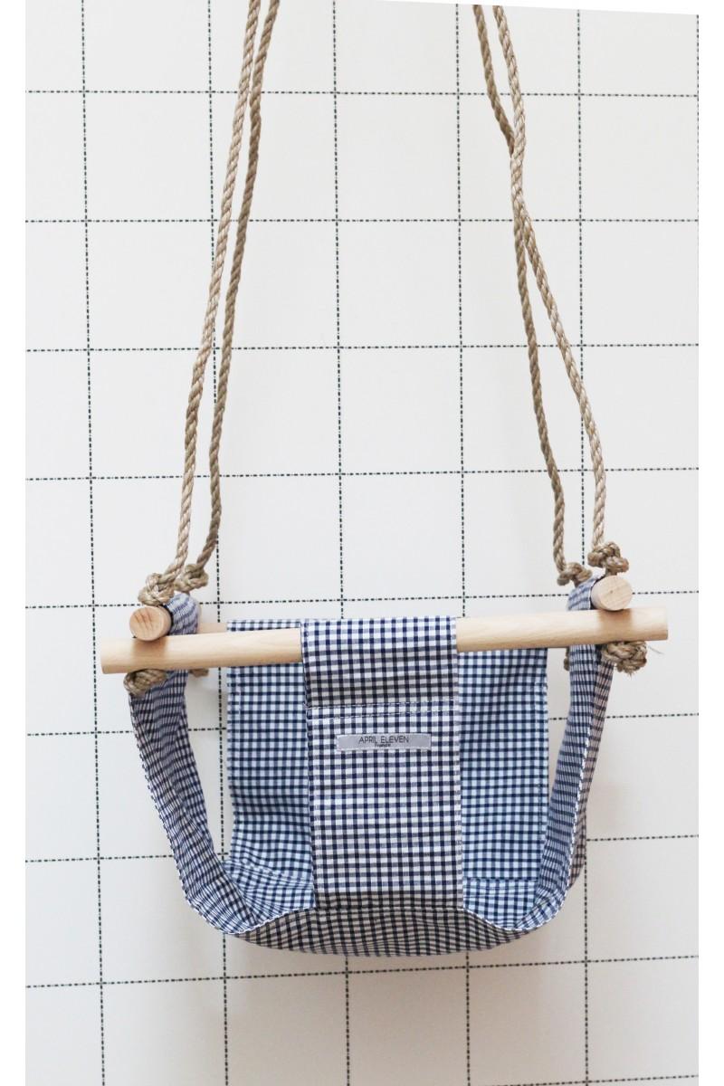 Balancoire bleu marine en tissu