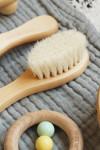 Brosse cheveux bébé en bois