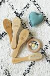 Brosse bébé personnalisée en bois