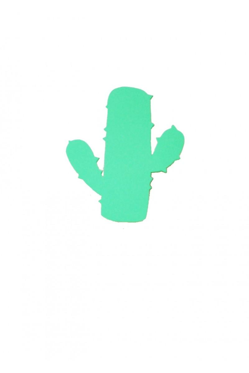 Applique cactus en bois vert