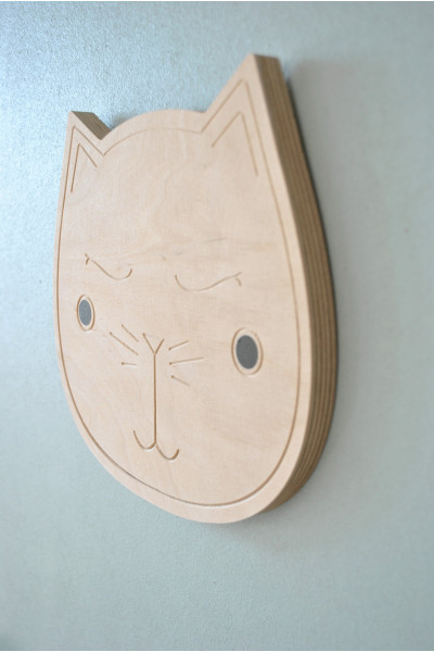 Wodden cat wall decorative