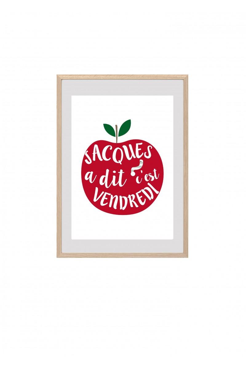 Affiche pomme en papier