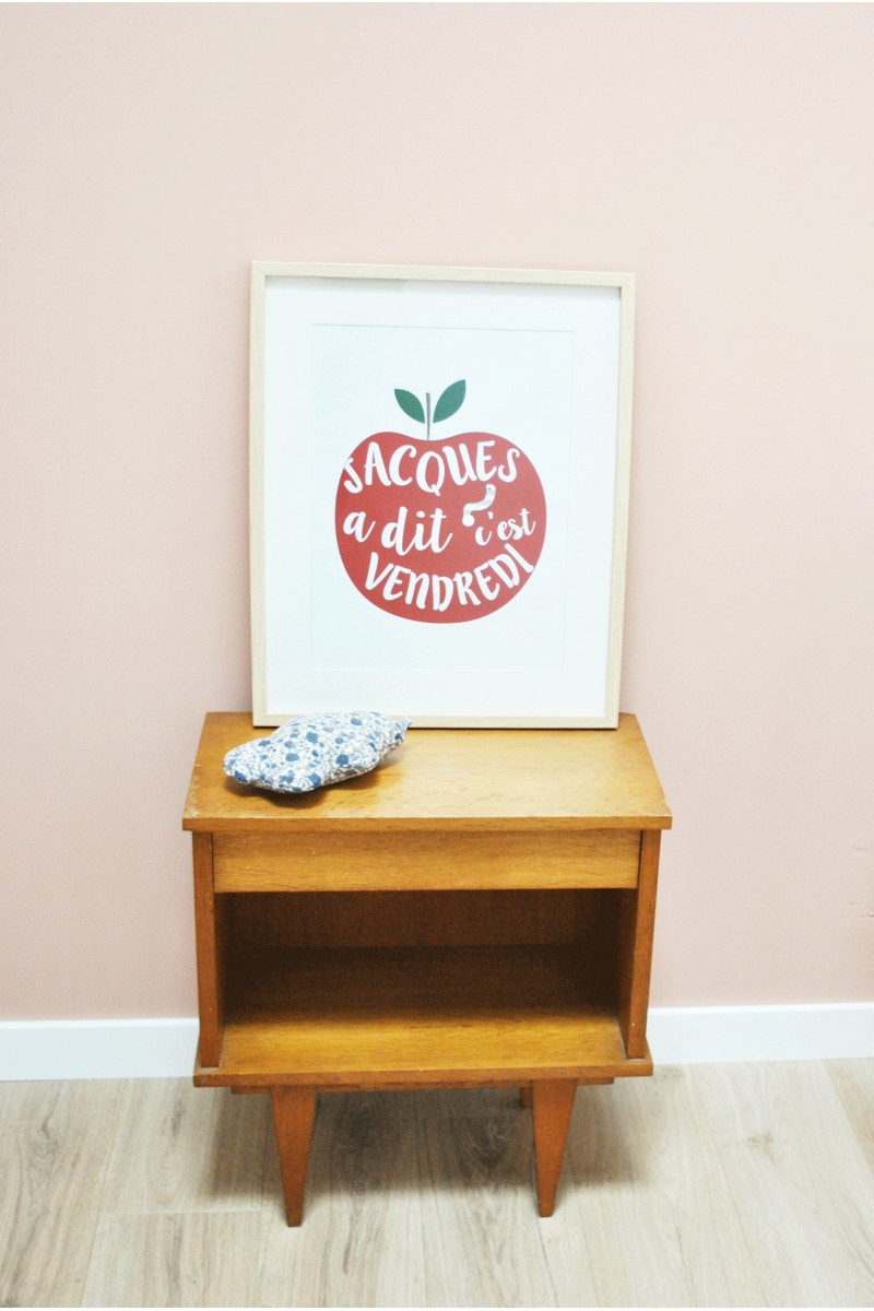 Affiche pomme en papier pour chambre d 39 enfants for Poster pour chambre