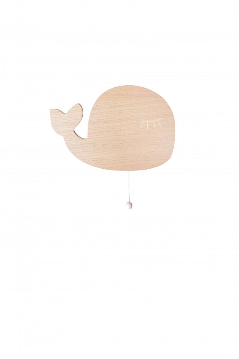 Boite à musique baleine en bois