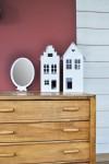 Miroir ballon blanc en bois