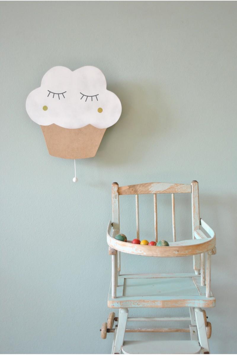 boite musique cupcake en bois blanc pour chambre d 39 enfant. Black Bedroom Furniture Sets. Home Design Ideas