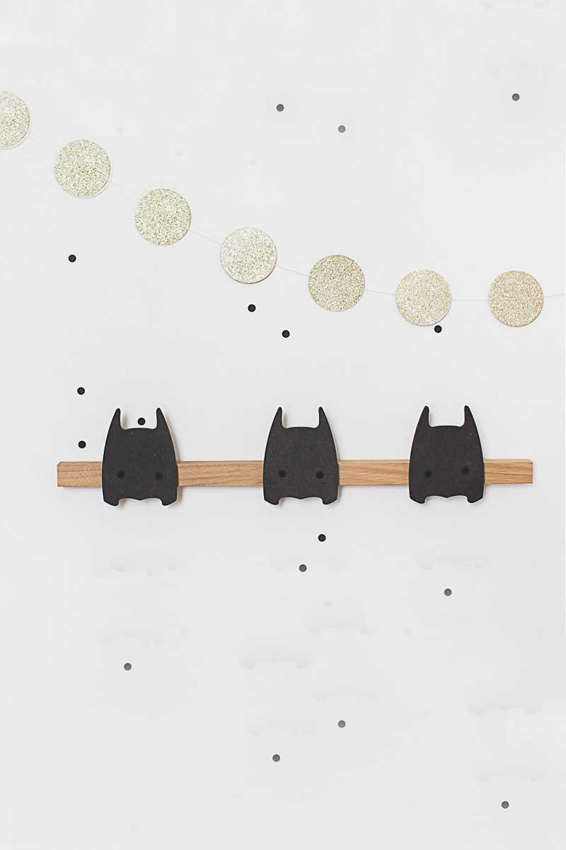 Wooden Super H 233 Ros Black Coat Rack For Kids Room