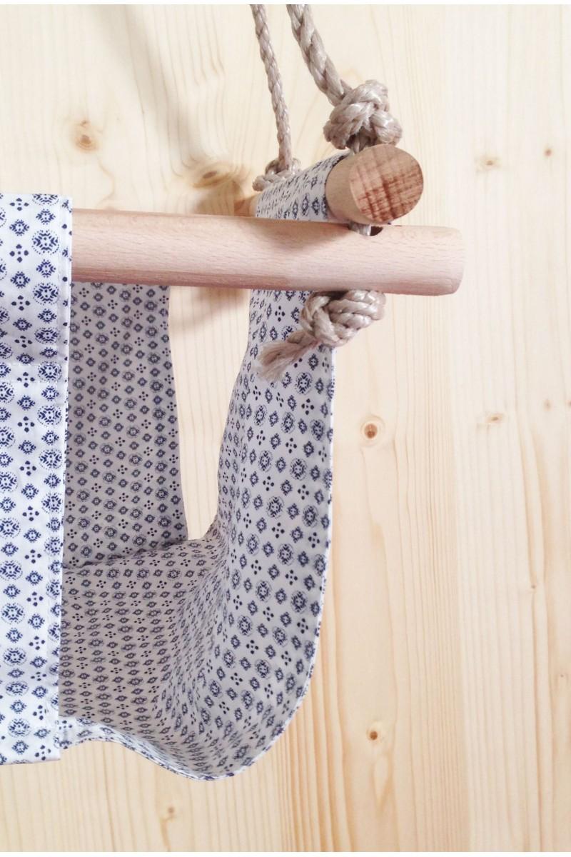 Balançoire en tissu à pois