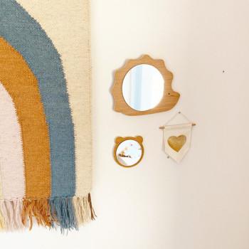 Miroir design en bois pour chambres d\'enfant | April Eleven
