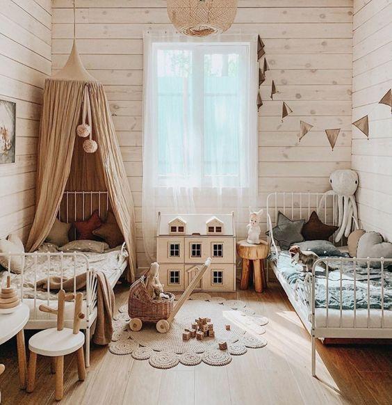 Decoration inspiration for a twin bedroom | April eleven - Deco Ideas Blog  for children's rooms | April Eleven
